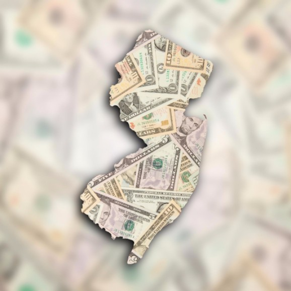 US dollars in shape of New Jersey: MaxFilings Business Taxes Blog