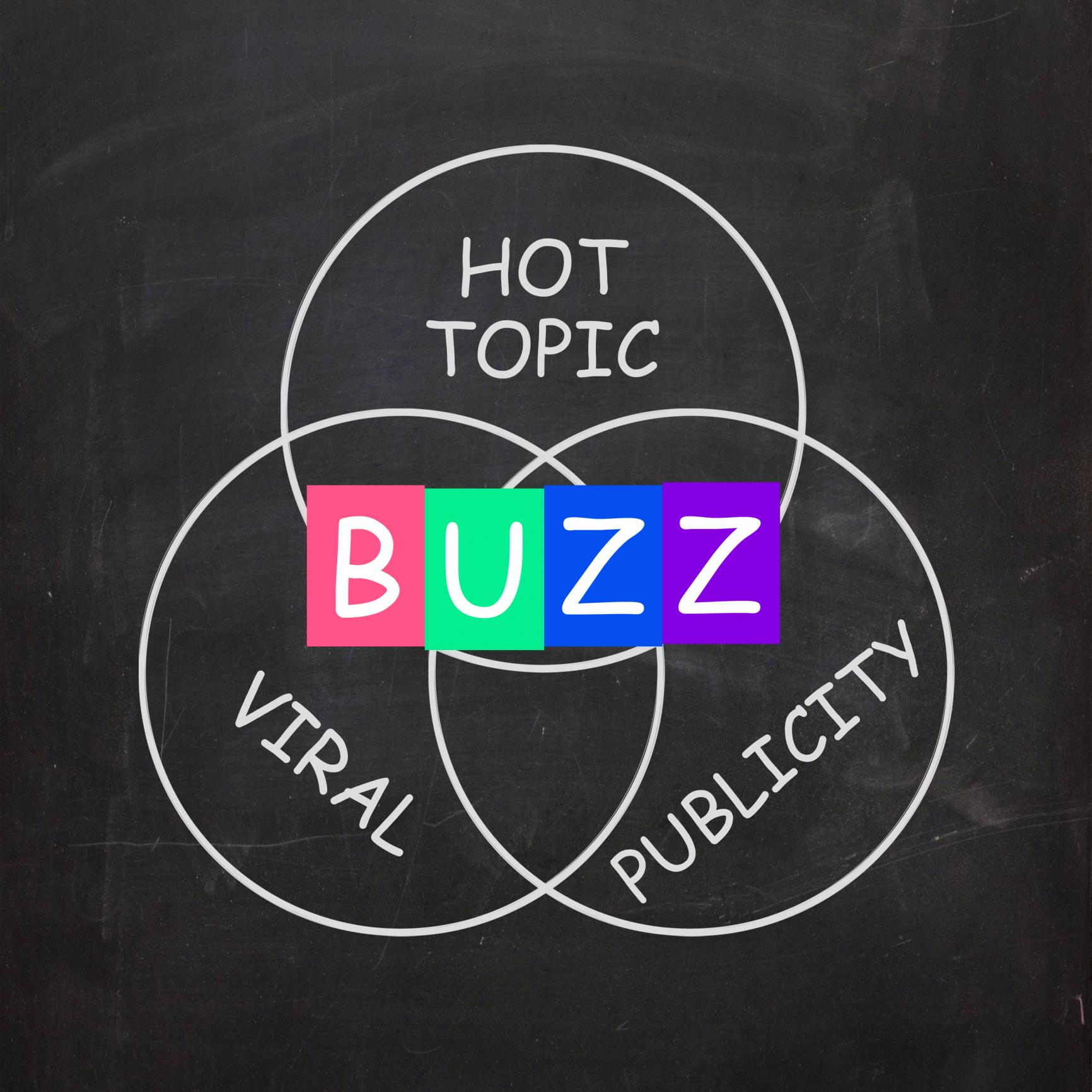 buzz-words-show-publicity-and-viral-hot-topic